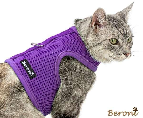 Kitty Jacket harnais anti-fuite pour chat souple CLASSIC uni violet