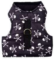 Haute qualité harnais chat Pirate Skull anti-fuite MADE IN GERMANY
